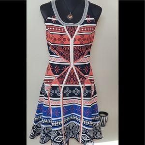 Diane Von Furstenberg Fit & Flare Unique Dress